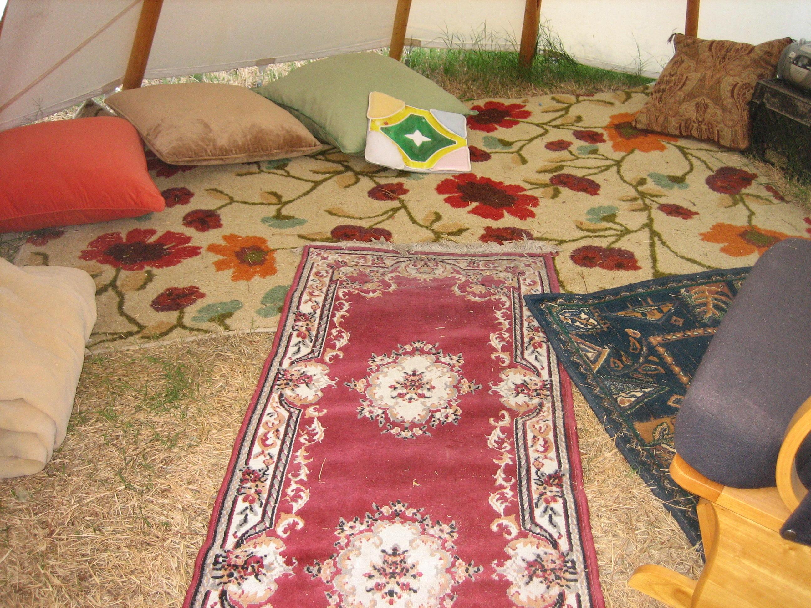 Camp Krem Sensory Tipi interior