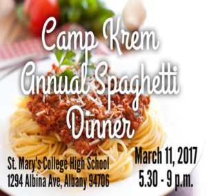 Camp Krem Annual Spaghetti Dinner @ St. Mary's College High School